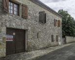 Stone house with garden and big garage center of village