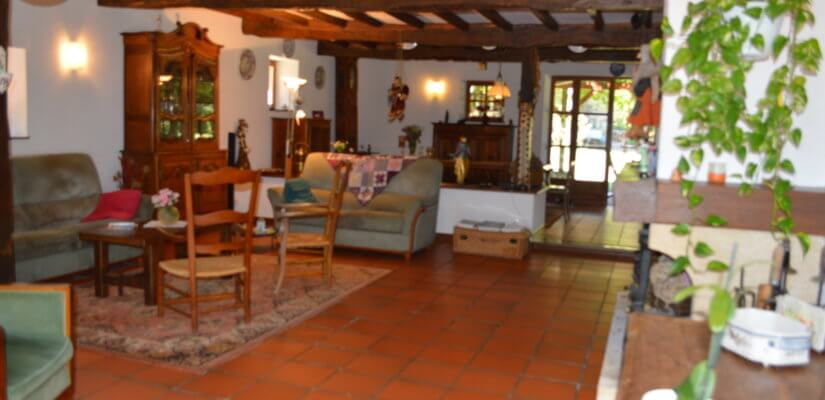 XIXth 6 beds farm house with outbuildings, pool and a gite on 1,6 ha